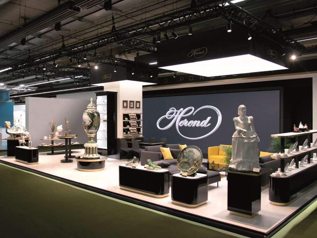 Herendi Porcelán Booth, Frankfurt Ambiente 2020 / Installation of an Indoor LED Wall