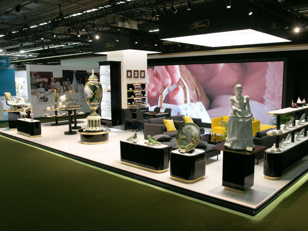 Herendi Porcelán Booth, Frankfurt Ambiente 2020 / Installation of an Indoor LED Wall 4