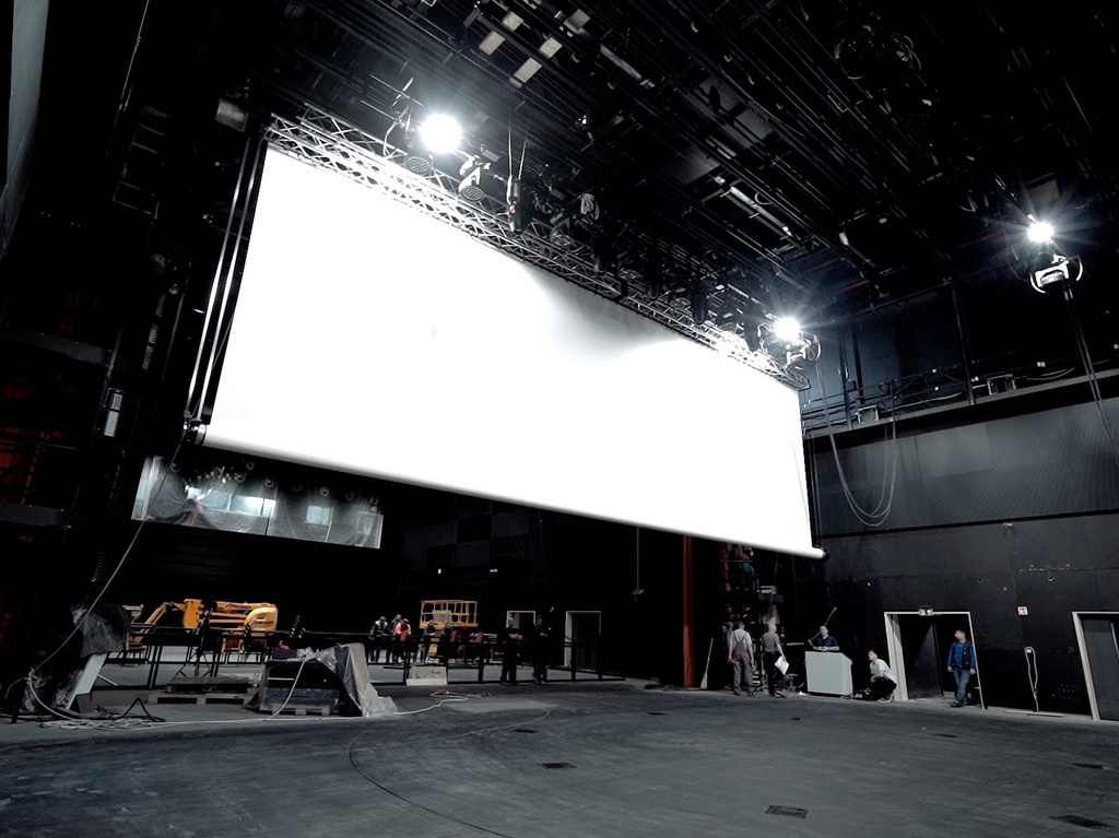 Projection screen track systems 8