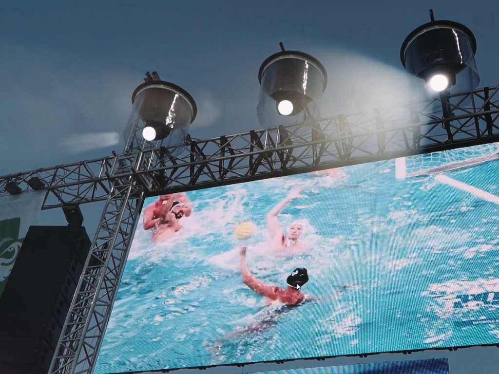 Audio and Visual Technology Operation at the BENU Men's Hungarian Water Polo Tournament